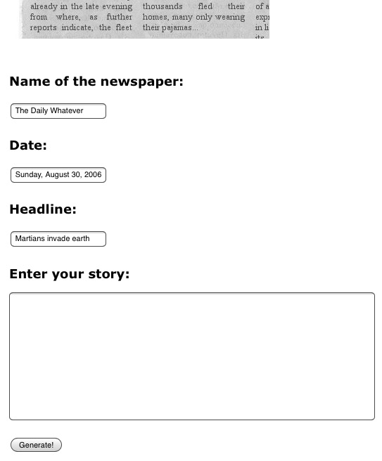 newspaper-clipping-generator